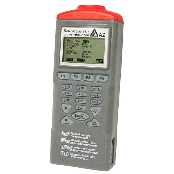 Registrador de datos de temperatura de 9611 AZ IR