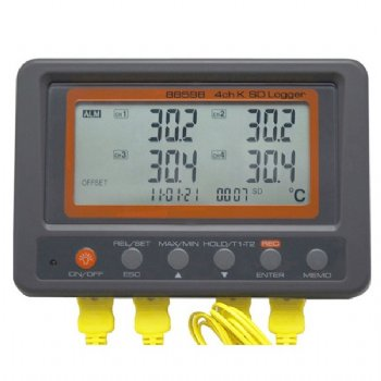 88598 AZ 4 channel K thermometer SD card data logger