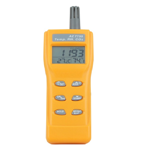 7755 AZ Portable CO2 Temp RH Meter