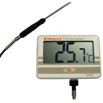 8891 AZ Waterproof Thermometer with 50cm Thermistor Temp. Probe