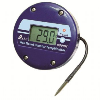 8800K AZ Waterproof IP65 Thermometer with Time Counter