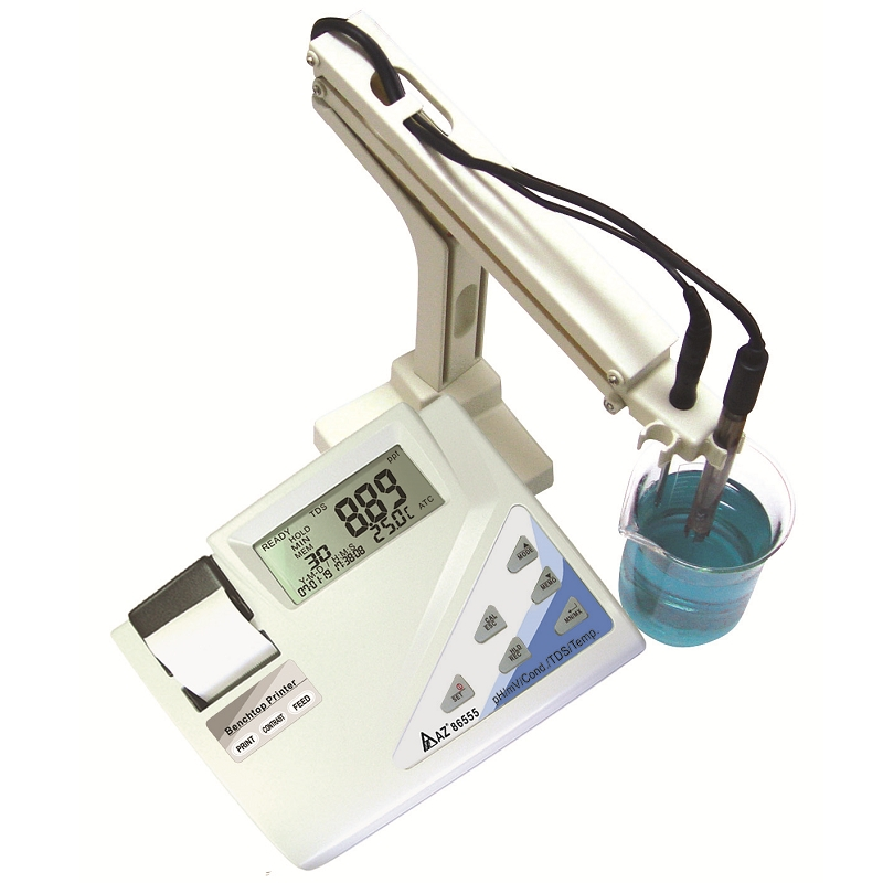 86555 AZ Multi parameter Bench Top Water Quality Meter - pH/ ORP/ Conductivity/ TDS/ Salinity Printer