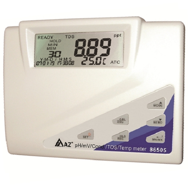 86505 AZ Multi parameter Bench Top Water Quality Meter - pH/ORP/Cond./TDS/Salinity