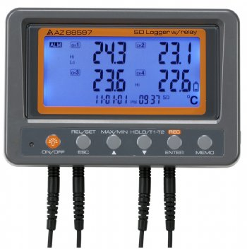88597 AZ 4 Channel Thermistor SD Card Data Logger with Relay